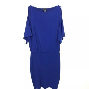 Moda International VS Blue Dress Blue Small